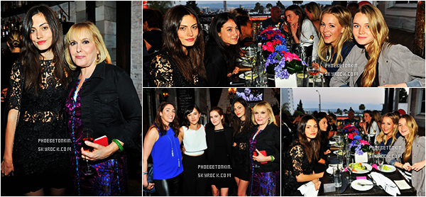 "• EVENTS - Le 23/05/2015, Phoebe était au ""IT Cosmetics Dinner in Honor of Dress"""