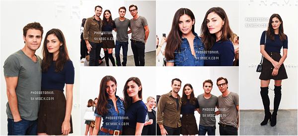 • EVENT - Le 12/09/15, Phoebe et Paul étaient à la Présentation de Frame Denim SS16 à la NYFW ..