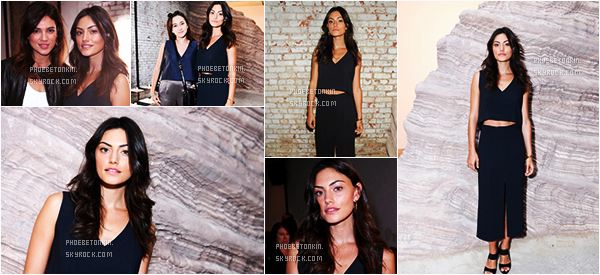 • EVENT - Le 14/09/15, Phoebe était au The MAIYET Fashion SS 2016 à NY..