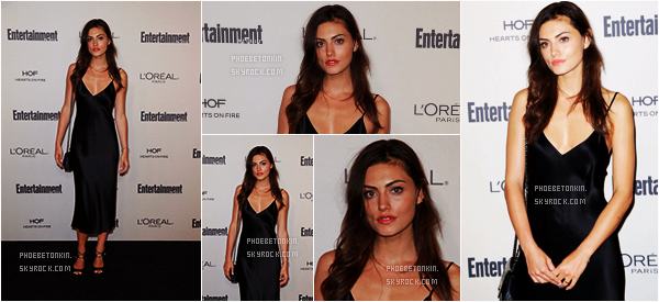 • EVENT - Le 18/09/15, Phoebe était au Entertainment Weekly Pre-Emmy Party..