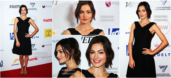• EVENT - Le 25/10/15, Phoebe était au 4th Annual Australians In Film - Awards Benefit Dinner And Gala..