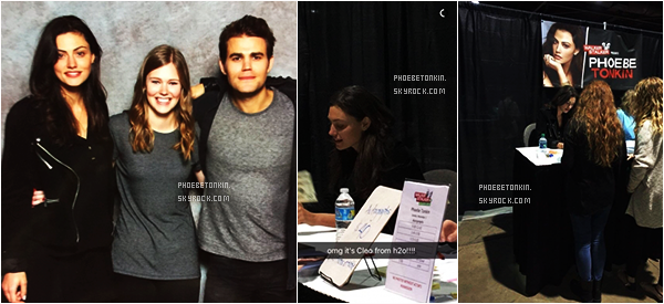 • EVENT - Le 1/11/15, Phoebe et Paul Wesley étaient  à la Walker Stalker Convention d'Atlanta..