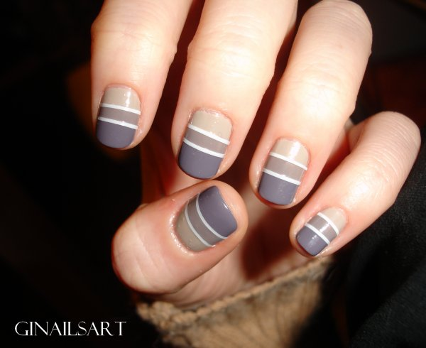 Nail art : Rayé tricolore