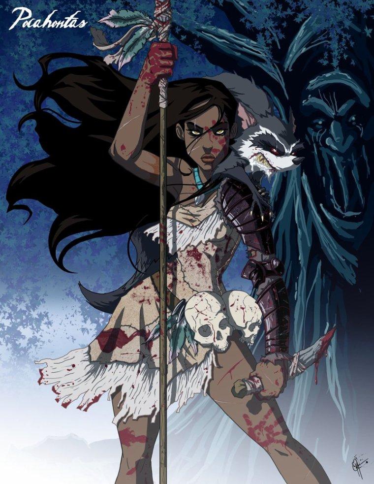 Pocahontas version guerrière.