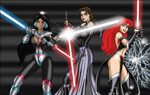 Les princesses du côté obscur de la force !