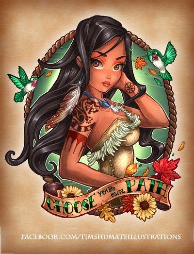 Pocahontas Tatouée