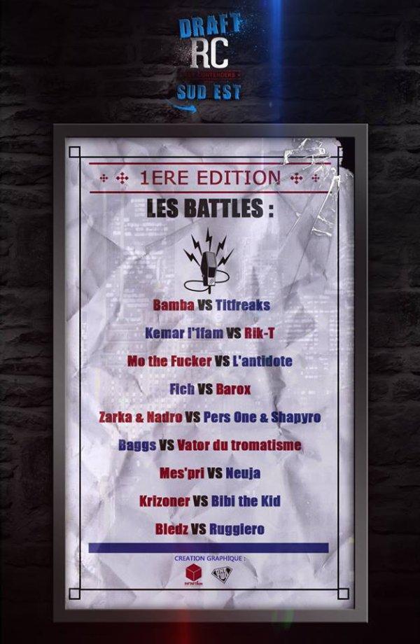 Premiere edition Du Rap Contenders Draft Sud Est avec la participation de Kemarl1fam !!! prevu pour avril !!!