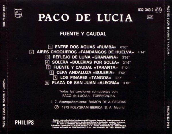 """PACO DE LUCIA - """"FUENTE Y CAUDAL"""" (1973)"""