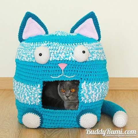 J aimerai tricoter ça à mes minous