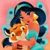 dessin de jasmine & son tigre