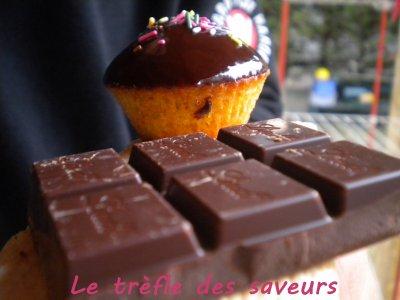 cupcake nature gla age au chocolat le tr fle des saveurs. Black Bedroom Furniture Sets. Home Design Ideas