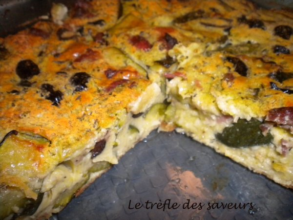 Clafouti Jambon-Courgette-Olives