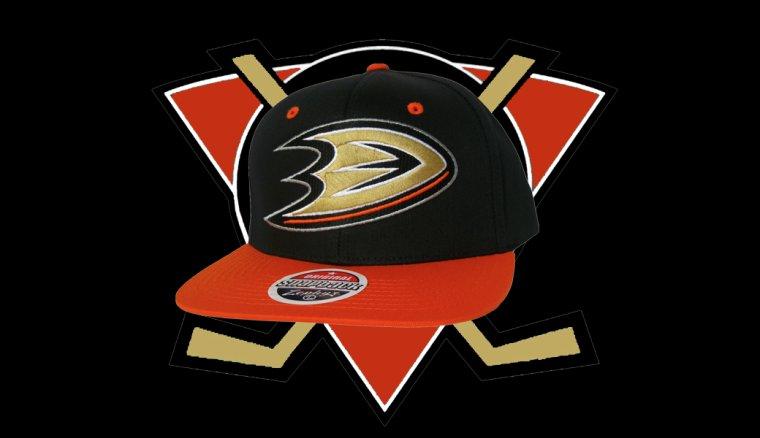 Casquette Neuve Ajustable Officielle NHL - ANAHEIM MIGHTY DUCKS Snapback - Casquette Noire/Orange de Zephyr