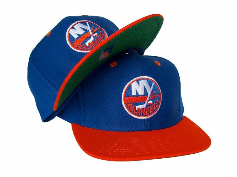 Casquette Neuve Ajustable Officielle NHL - NEW YORK ISLANDERS Snapback - Casquette Bleue/Orange de Reebok