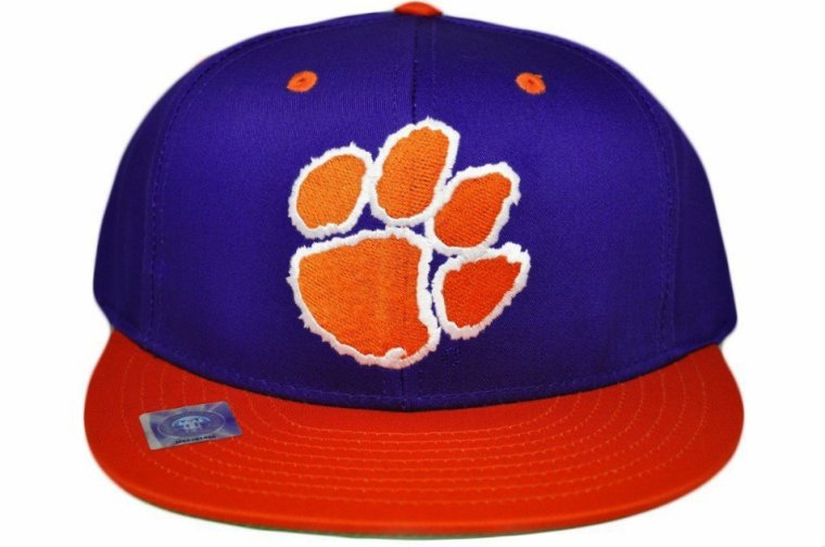 Casquette UNIVERSITE DE CLEMSON TIGERS Snapback -NCAA- Visiere Plate - Violette/Orange