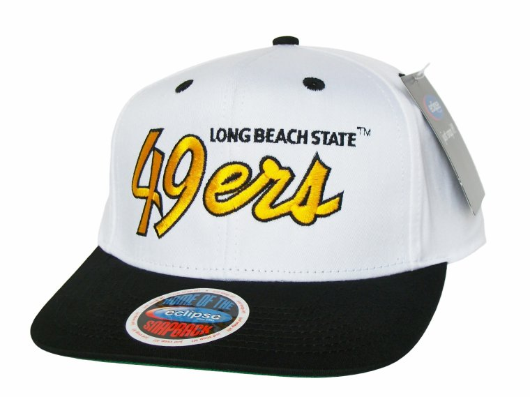 Casquette LONG BEACH State 49ers Snapback - Blanche/Noire/Or