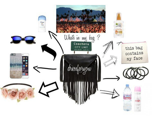 What's in my bag ? : Coachella