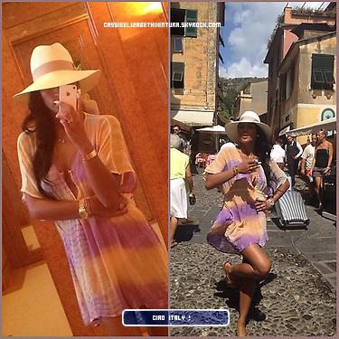 15/08/2012 : Photos de vacances de Cassie sur son yatch, dans l'île italienne de Capri accompagnées de candids avec Diddy.
