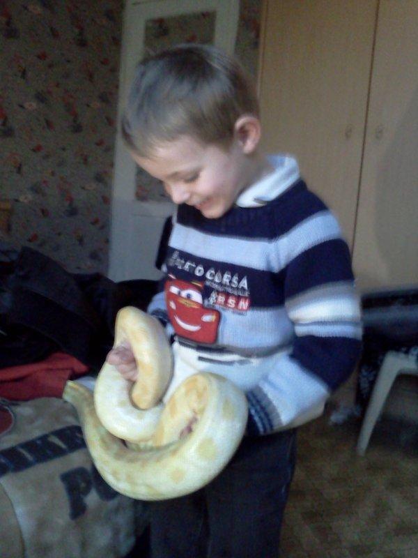 Mon loulou avec les serpents de mon cheri