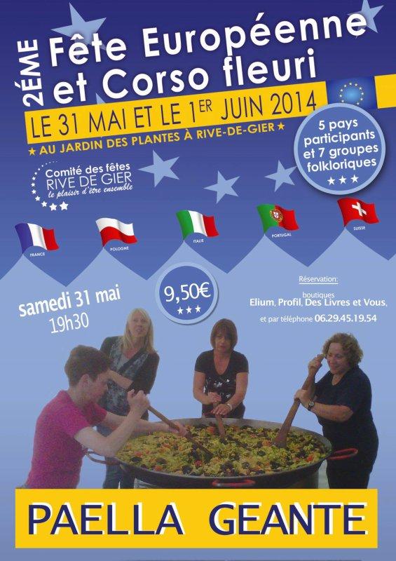 Rendez vous le 31 mai et le 1 juin 2014 a la fête européenne et au corso de Rive de Gier