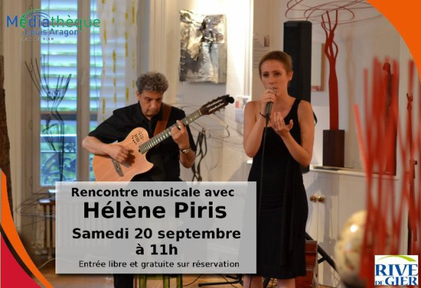 Pour information.....Hélène Piris le Samedi 20 Septembre 2014 Médiathèque de Rve de Gier