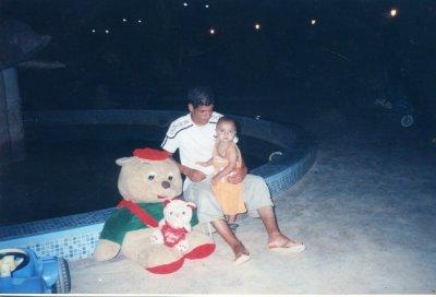 moi avec mon petit frère