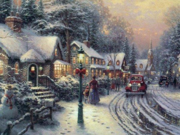 joli petit village blanc de féte de noel cadeau pour mes amies si vous aimez bisoussss