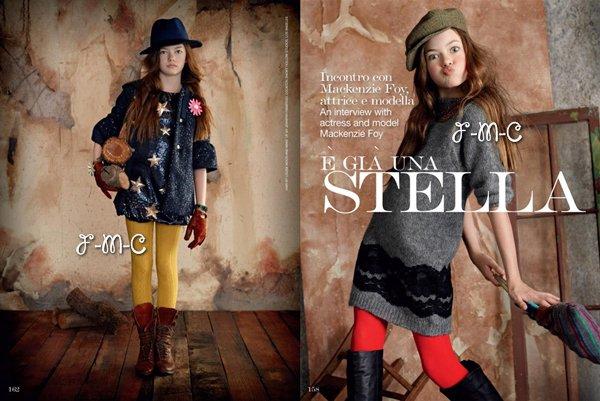 Mackenzie plus que magnifique dans un photoshoot par Dani Brubaker pour « Vogue Bambini ».