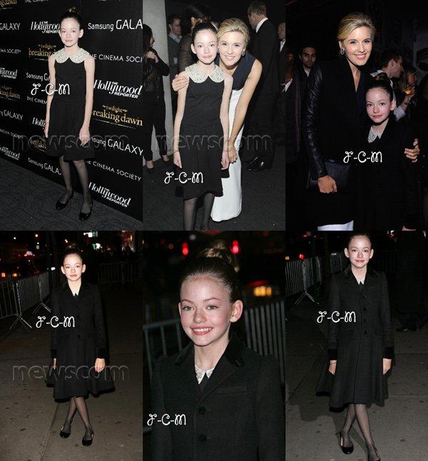 15/11/12 : Mackenzie Foy à la première de « The Twilight Saga: Breaking Dawn : Part 2 » à New York.