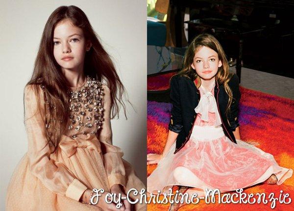 Deux photos de Mackenzie issues d'un photoshoot datant de novembre 2012 pour « Vanity Fair » et « Teen Vogue ».