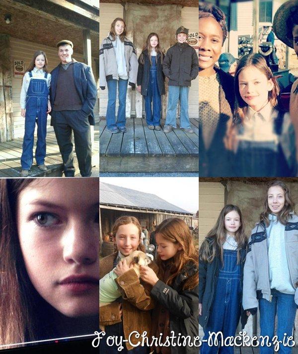 Nouvelles photos de Mackenzie et toute l'équipe sur le set de « Wish You Well ».