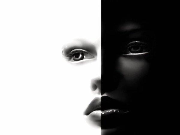 Le coeur Blanc - Noir - Poème - C♥eurSénégal22