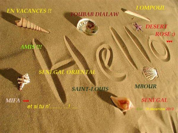 Au plaisir de vous revoir, mais j'ai tant à découvrir dans ce désert... ;) JOYEUSES Fêtes à vous tous!
