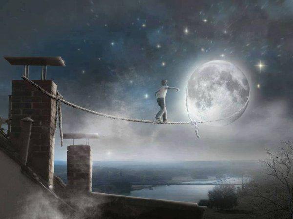 J'ai demandé à la lune...........