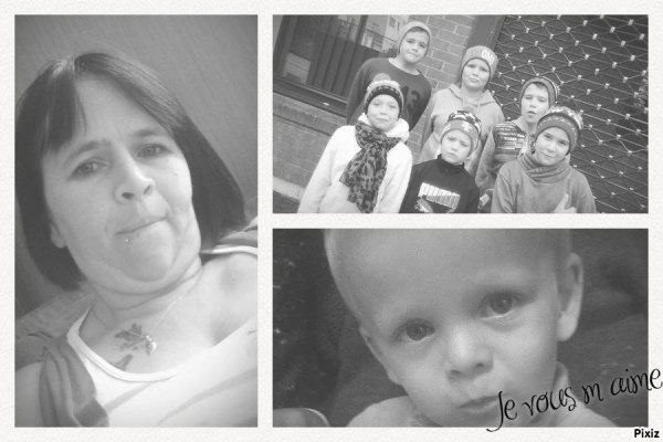 moi avec mes 7 enfants