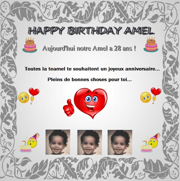 Happy Birthday Amel !!! ❤❤❤