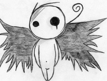 Dessin Ange Triste ♢ petit ange ♢ - 100% dessin