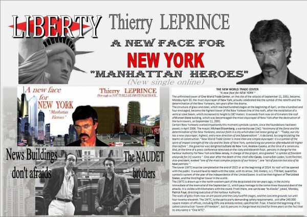 THIERRY LEPRINCE-MANHATTAN HEROES for the New WORLD TRADE CENTER