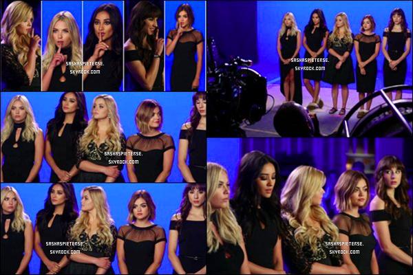- Découvrez le nouveau générique de la partie 2 de la saison 6 de Pretty Little Liars  Ce n'est plus Aria qui fait le fameux chuut à la fin mais Emily mais dans les prochains épisodes, une des filles fera le fameux chut d'après la vidéo du BTS..   -