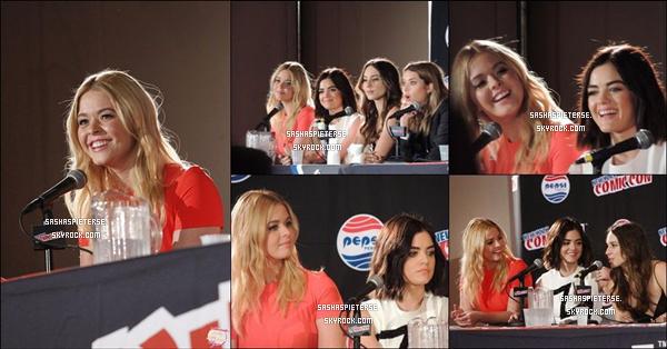 * 09/10/2015 : Sasha était présente avec ses co-stars de PLL à « New York Comic Con » à New York.  *