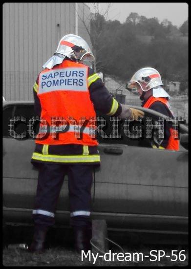 les pompier en plénne action