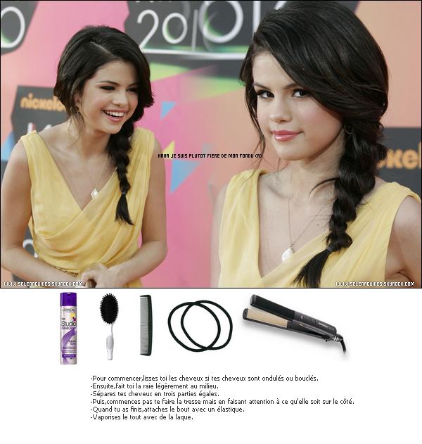 *Comment reproduire la coiffure de Selena au Kids Choice Awards 2O1O. *