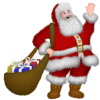 Voici le Père Noël ! Il vient nous apporter plein de cadeaux !