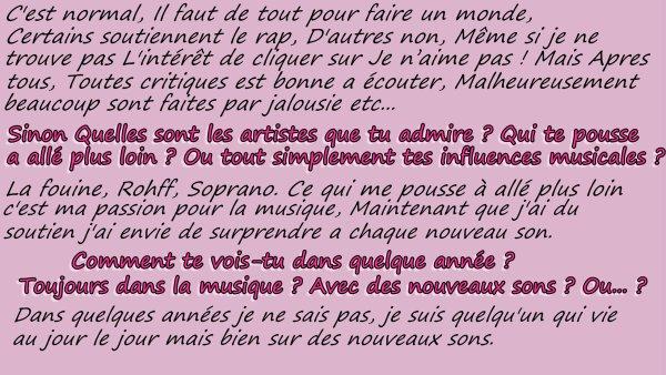 interview Ridsa ;)    Respect mon travail, Pompe pas ;)