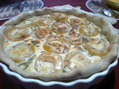 Tarte au gorgonzola & abricots