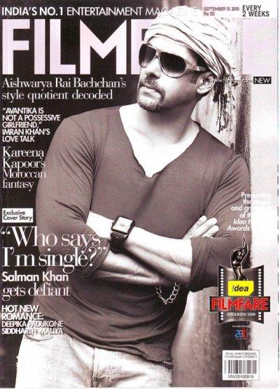 Filmfare 15 Sep 2010 Magazine SALMAN KHAN