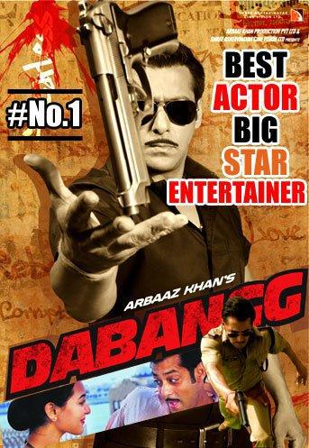 Salman Khan Won Best actor for DABANGG at the Big Star Entertaining Awards