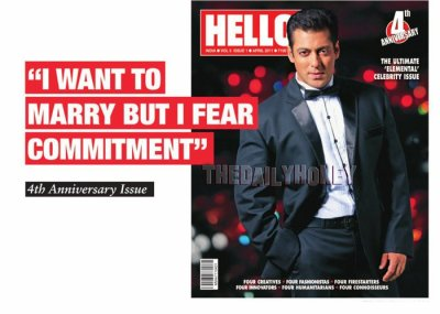 Salman Khan HQ Scans From the HELLO Magz 4th Annivasry Issue