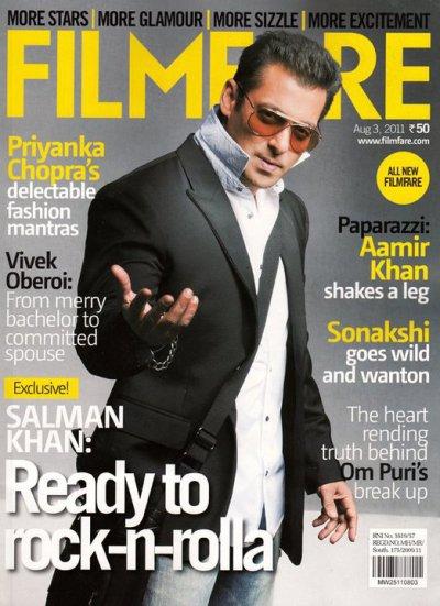 Filmfare New Cover Salman Khan 2011