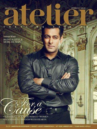 Salman Khan on the cover of atelier Magazine